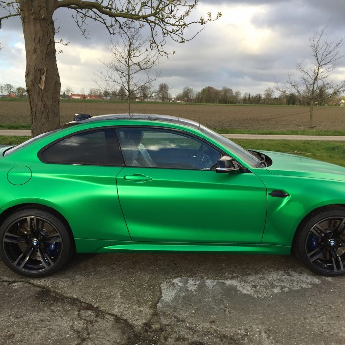 BMW M2 Greenhulk wrap