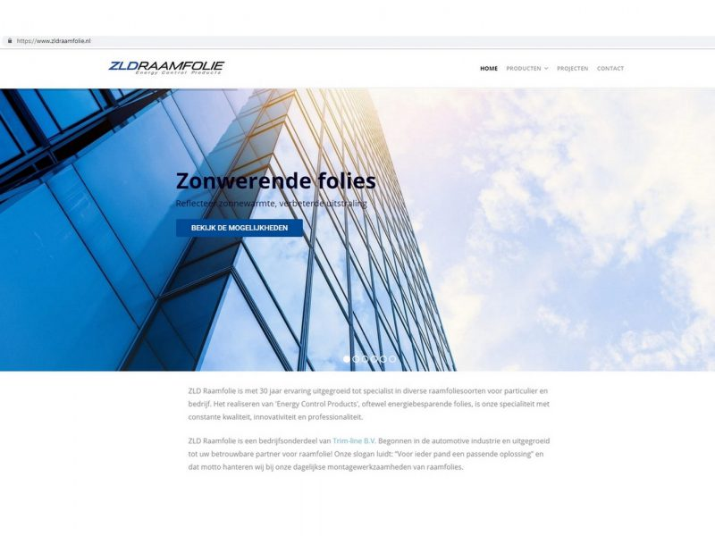 ZLD RAAMFOLIE WEBSITE