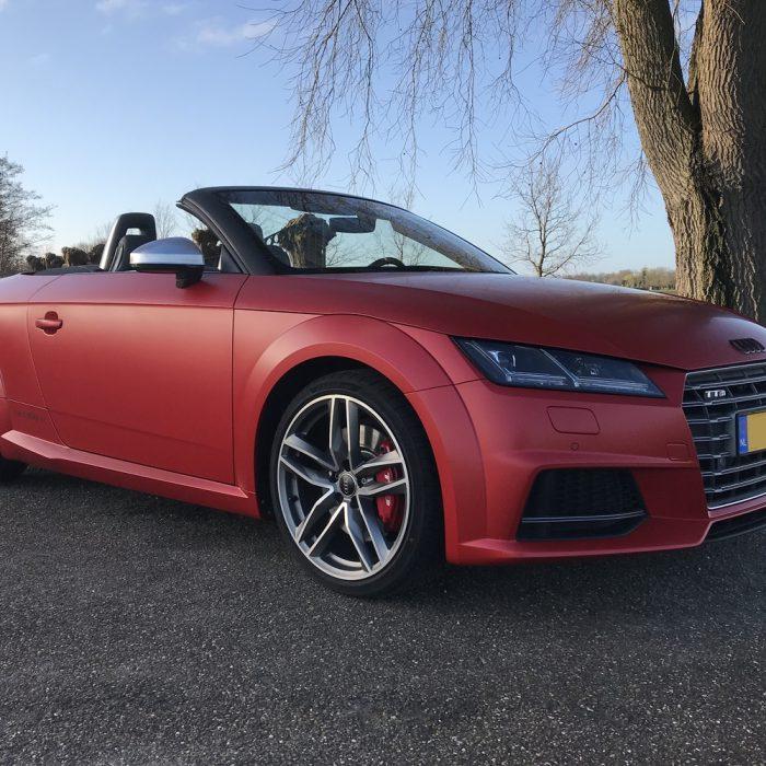 Audi TT- Satin Smoldering Red CarWrap