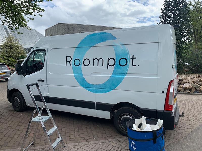 belettering wagenpark roompot