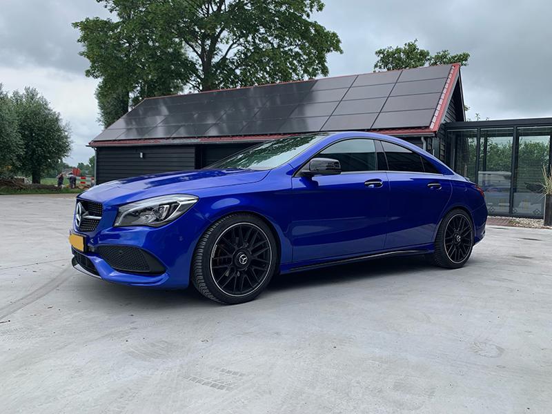 carwrap mercedes cla cosmic blue