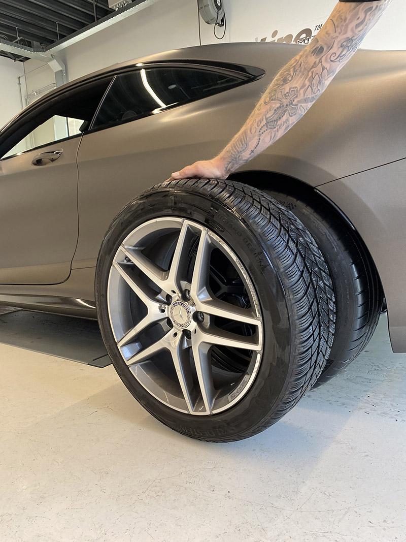 carwrap 3m mercedes s-klasse