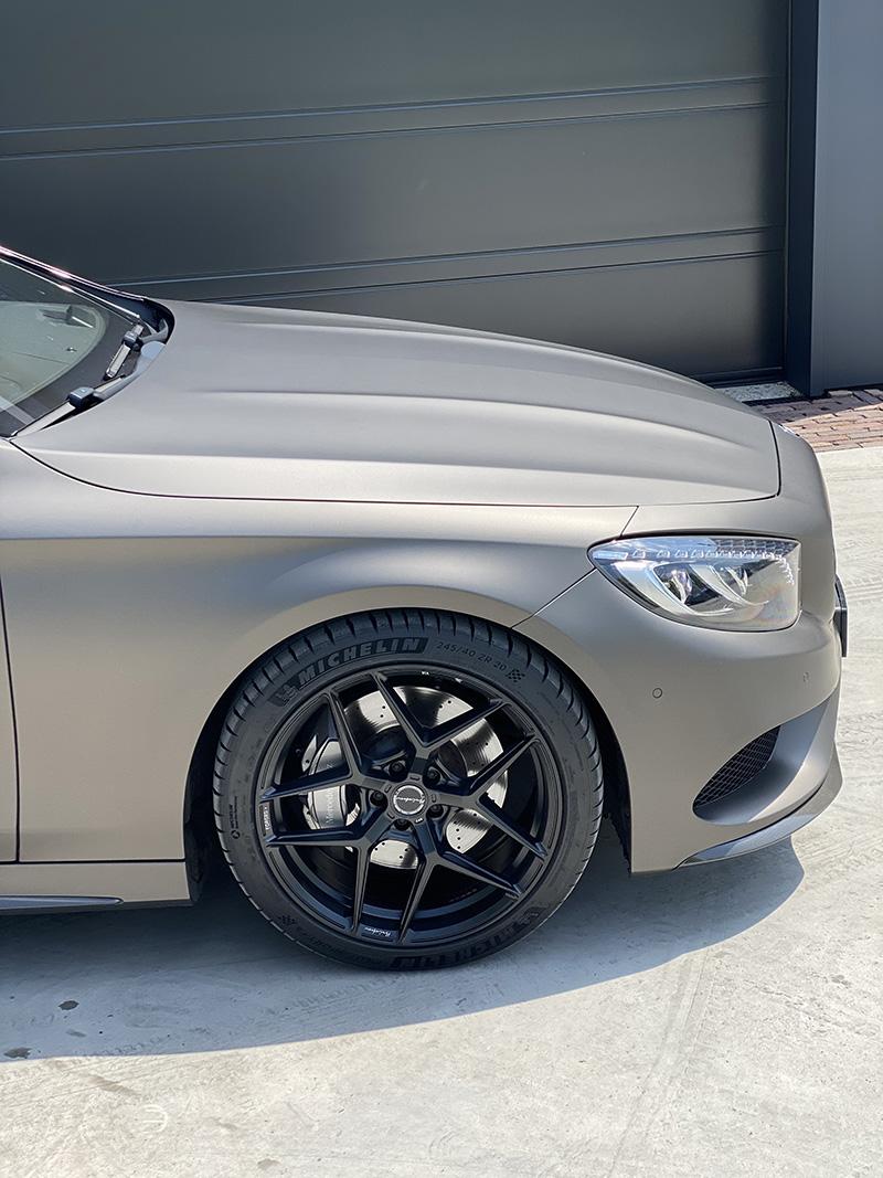 carwrap 3m + velgen mercedes s-klasse