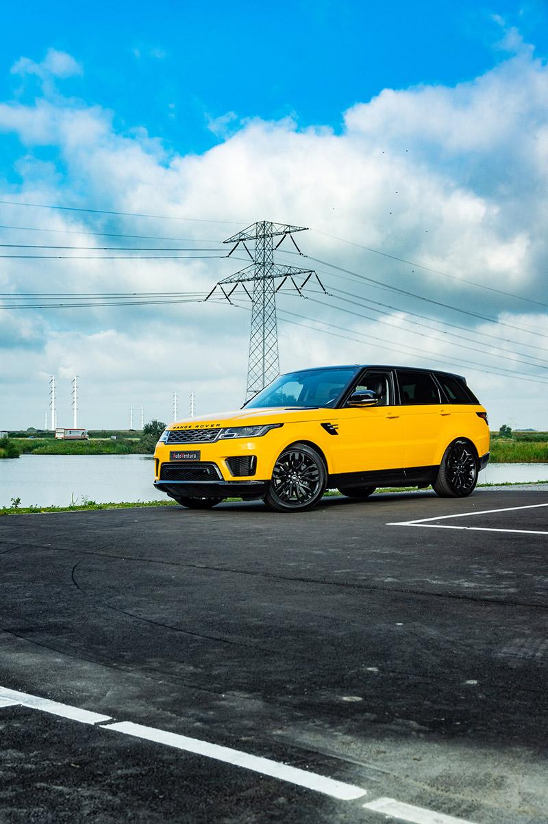 carwrap range rover sport sunflower yellow